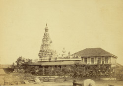 Pagoda near Railway Bridge, Byculla [Bombay].